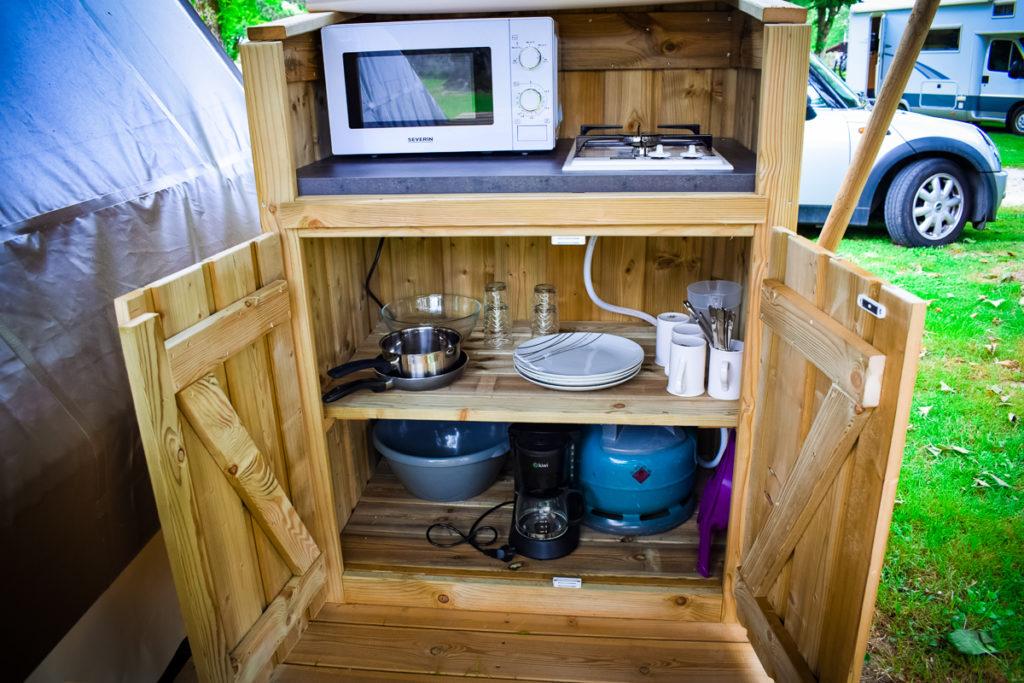 Camping des Ribières Tente Randonneur Kitchen Invent