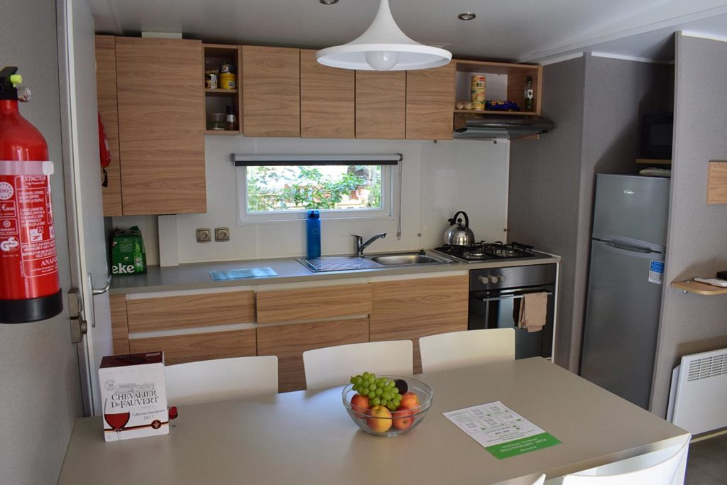 Eurocamp Azure Mobile Home Kitchen Area