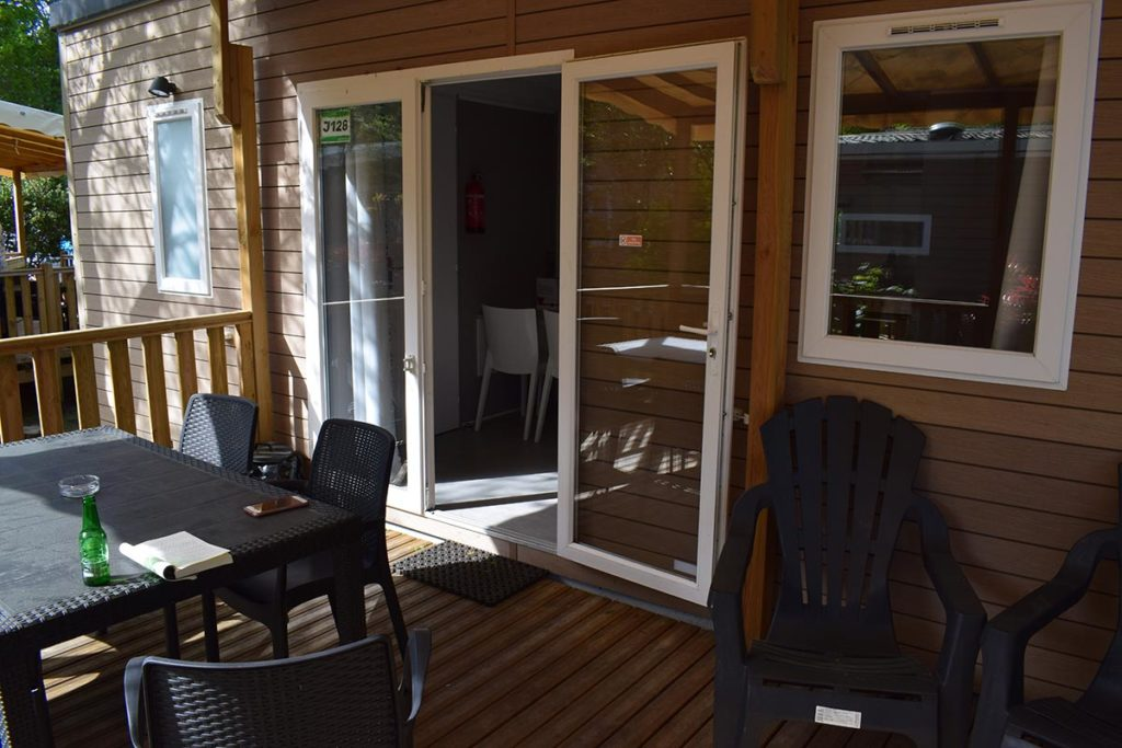Eurocamp Azure Mobile Home Decking and Outdoor Seating