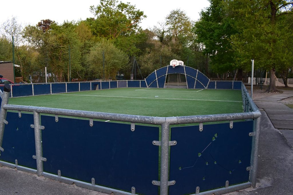 Camping Domaine De La Rive Football Basketball Sports Court