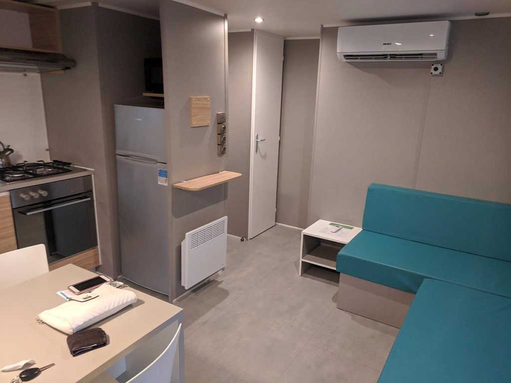 Eurocamp Azure Mobile Home Living Are Air Conditioning Unit