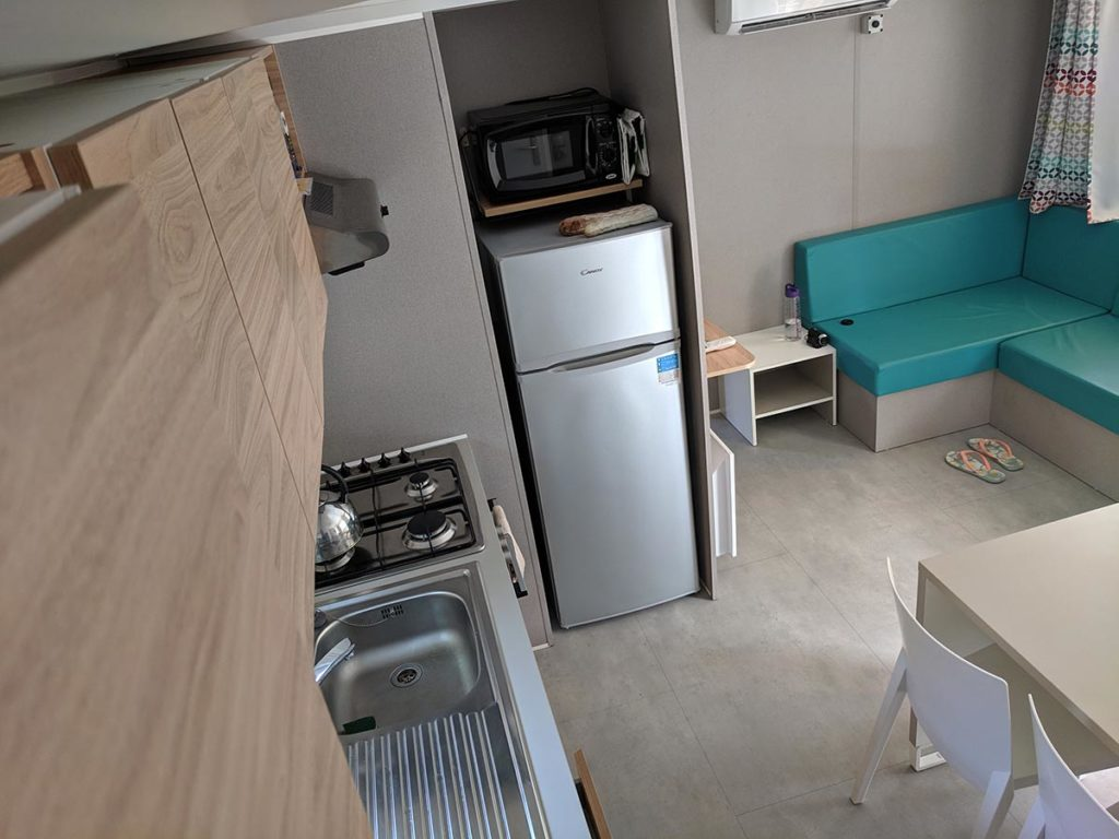 Eurocamp Azure Mobile Home Kitchen Storage And Fridge