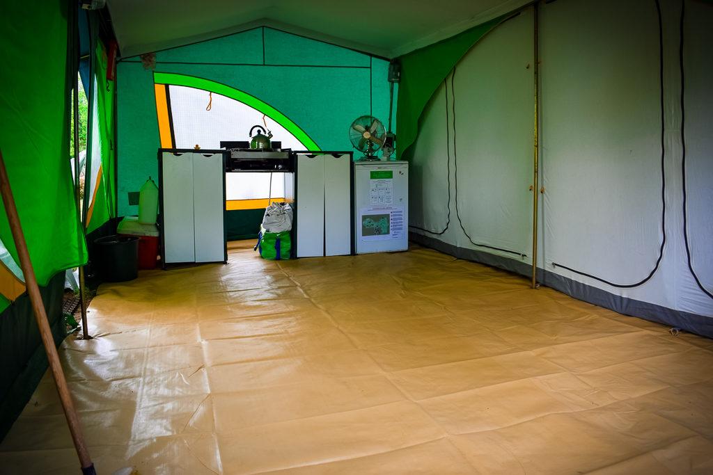 eurocamp classic tent indoor living space
