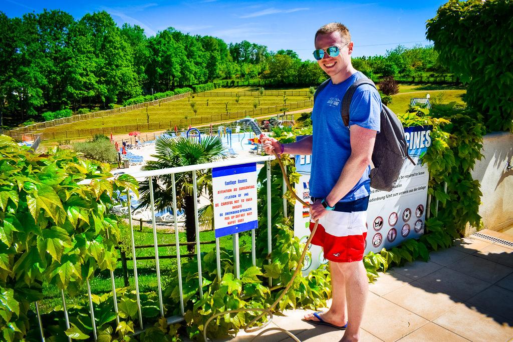 swimwear rule at saint avit loisirs and inflatables pump