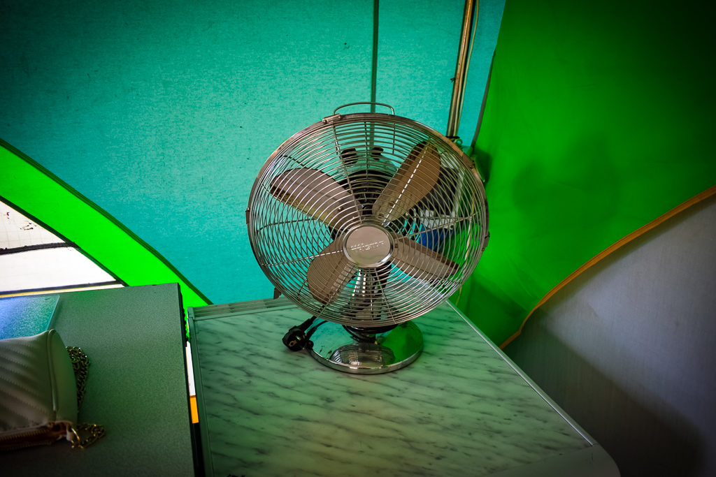 the fan in our eurocamp classic tent