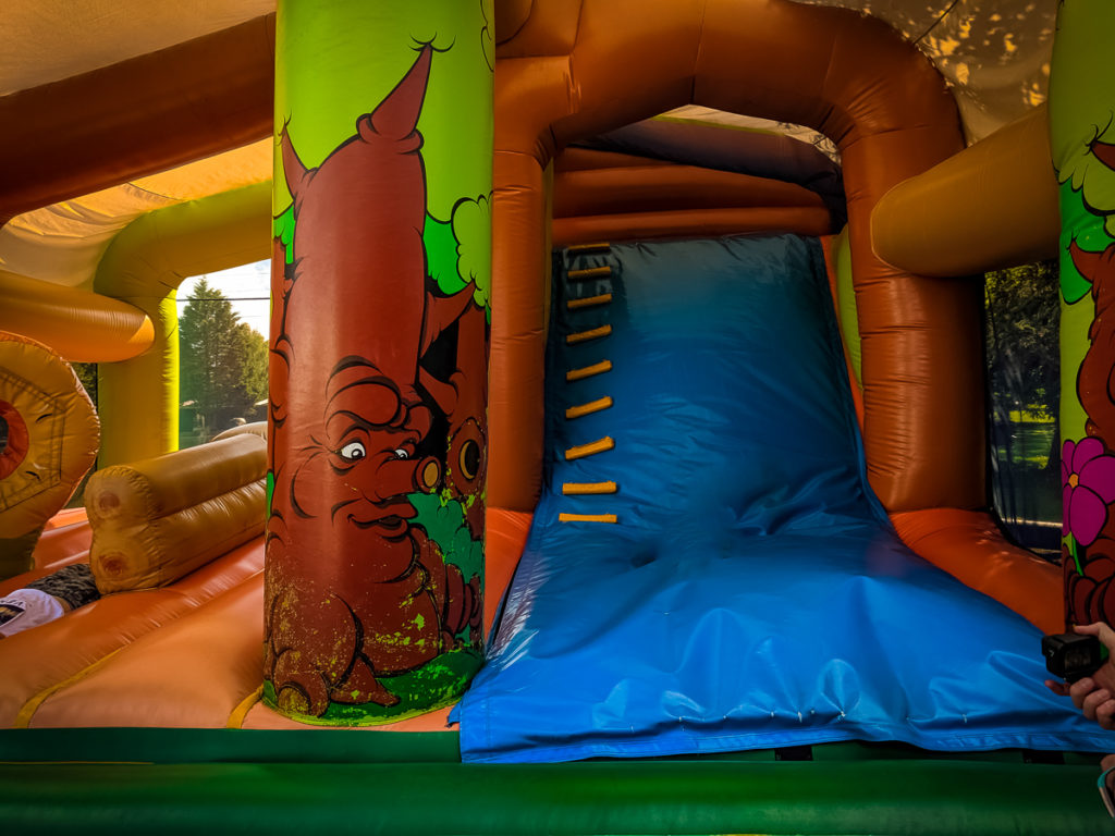 Bouncy Castle at the Macao Leisure Cafe at La Croix du vieux pont berny riviere france (1)