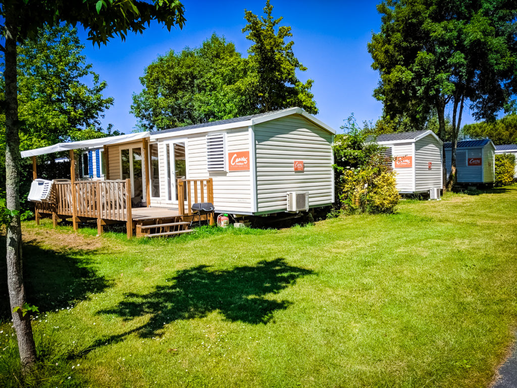 Canvas mobile homes at Sequoia Parc