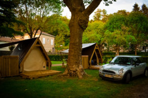 tents at camping des ribieres confolens