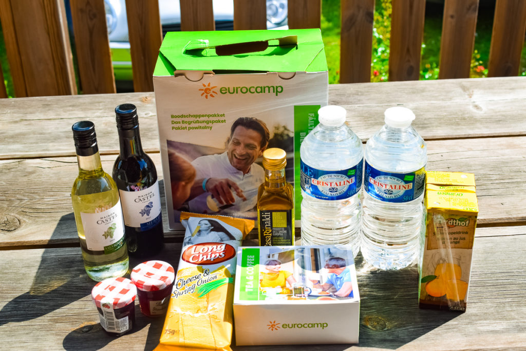 eurocamp welcome pack bookable extras