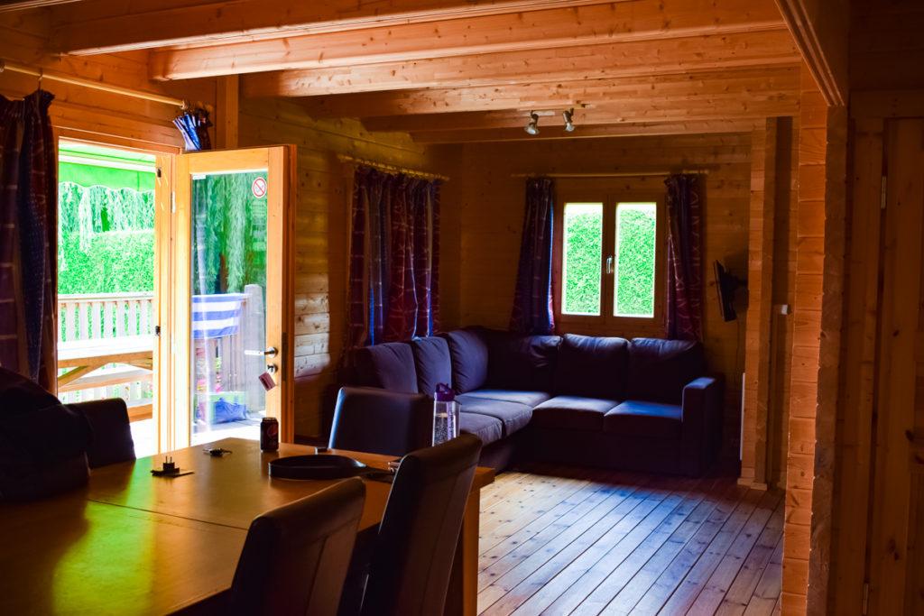 Living Area in 4 bed villa lodge at la croix du vieux pont berny riviere with eurocamp