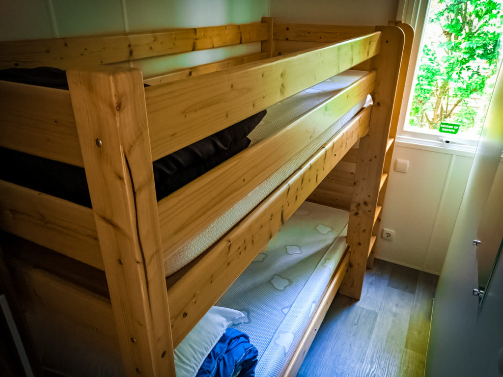 bunk bed in the Azure plus formerly known as the avant mobile home wooden sturdy bunkbed