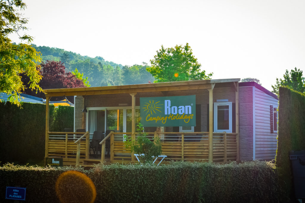 Roan holidays mobile home with large sunny pitch at La Croix du vieux pont berny riviere france (32)