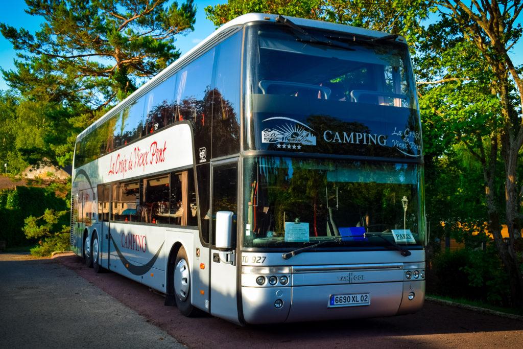 The bus for the excursions to paris and disneyland at La Croix du vieux pont berny riviere france (18)