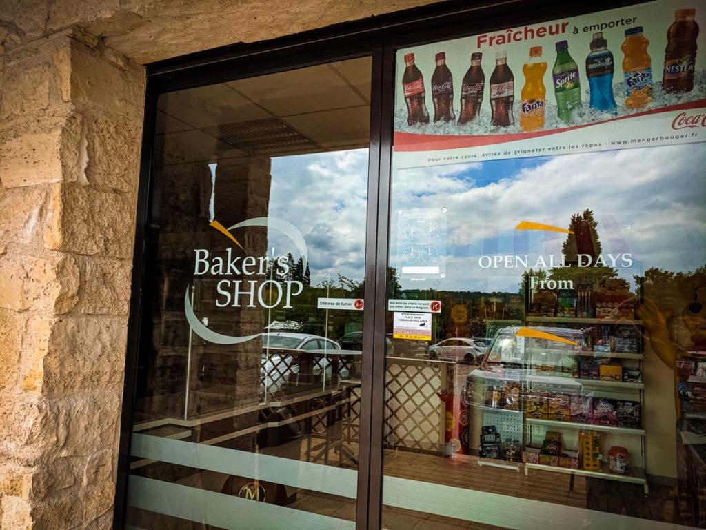 The campsite supermarket and bakery at La Croix du vieux pont berny riviere france (58)