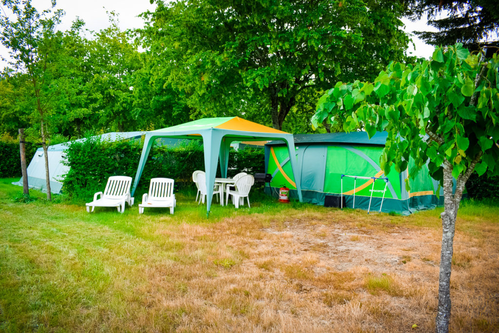 a eurocamp tent at castels camping la garangeoire