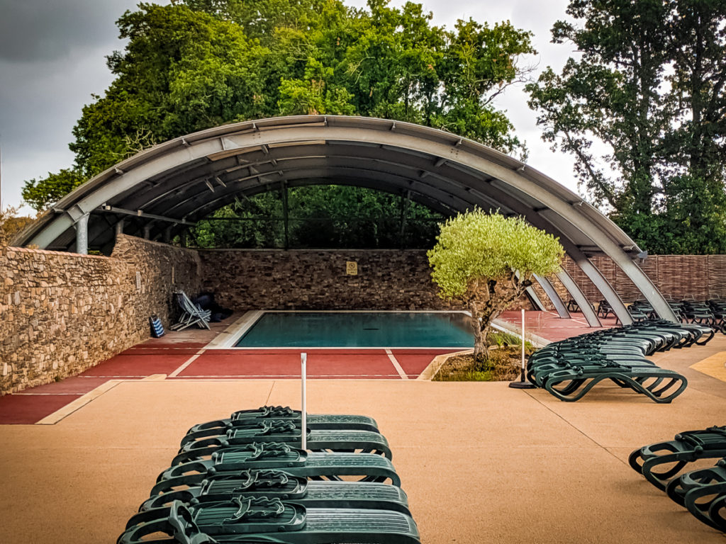 pool complex at castels camping la garangeoire