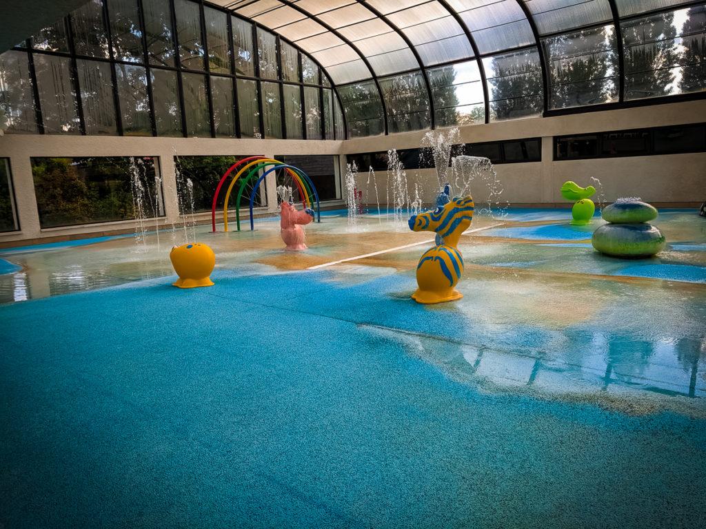 the toddler splash park at camping La Croix du vieux pont berny riviere france (65)