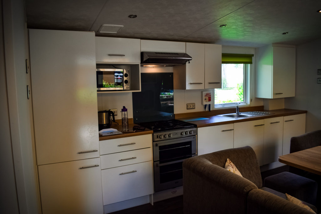 Kitchen in the aspect mobile home by eurocamp
