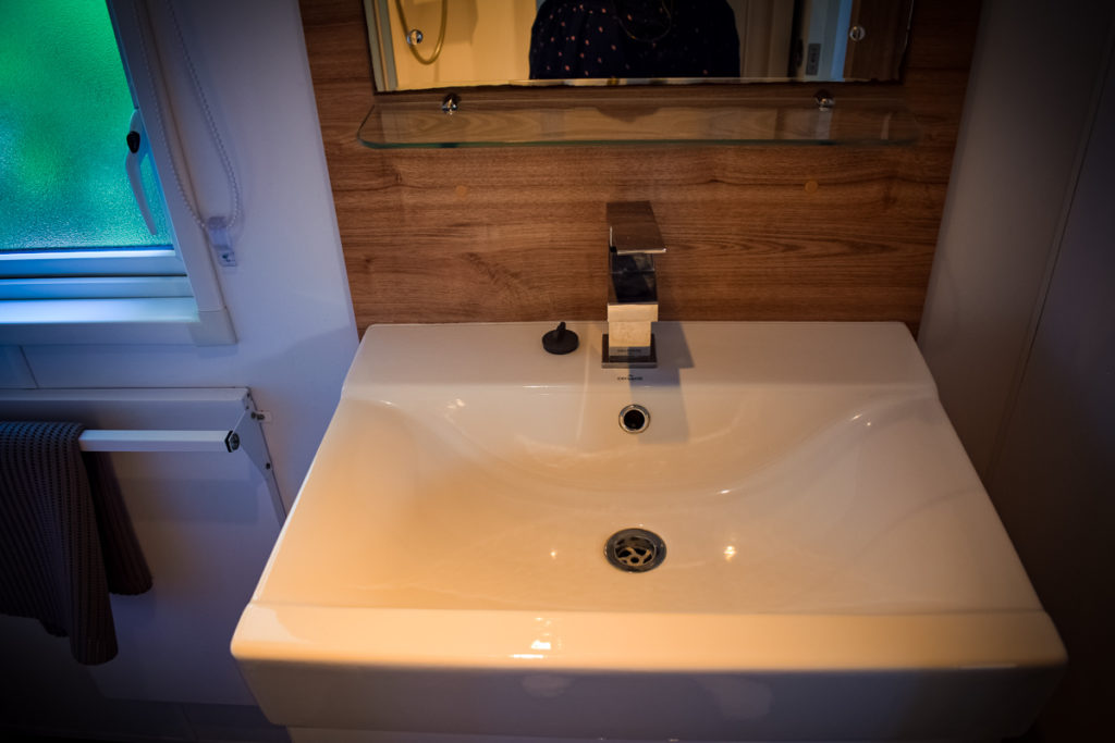 sink in the aspect mobile home