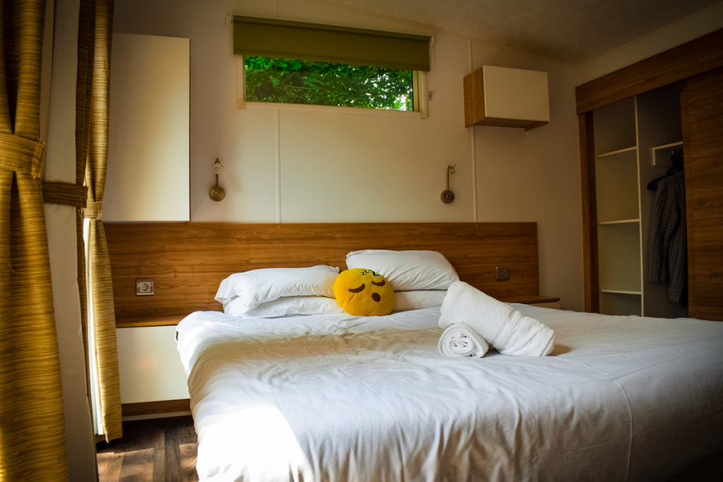 double bedroom in the eurocamp aspect mobile home