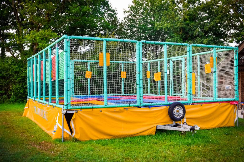 castels camping la garangeoire trampoline area