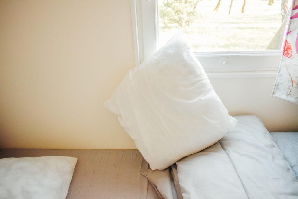 Square pillows at yelloh village lac du bordeaux campsite