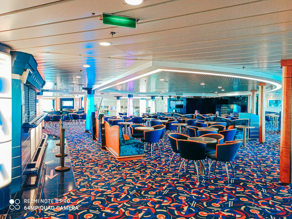 The bar area was closed on our brittany ferries first post lockdown journey on the 29th of june 2020 travelling from Caen to Portsmouth