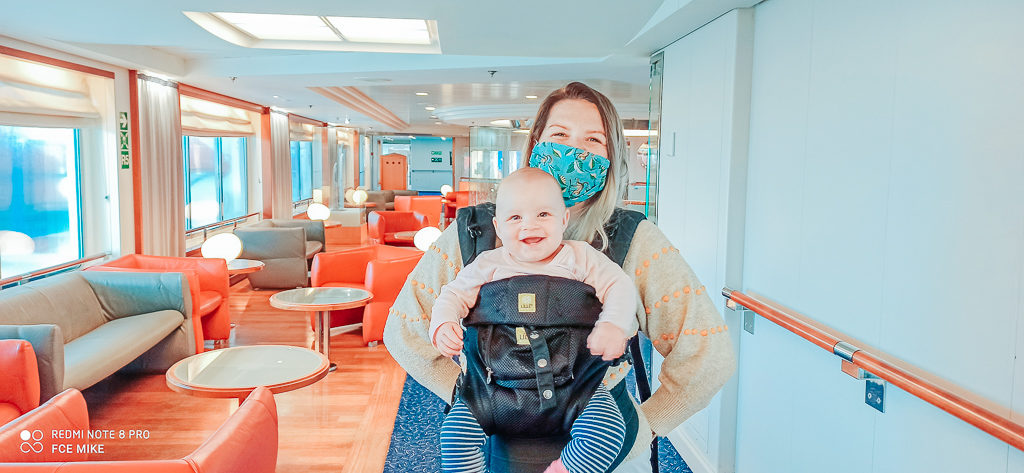 Wearing a mask while in public areas on board Brittany Ferries post lock down