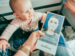Baby and the brittany ferries covid safety features leaflet