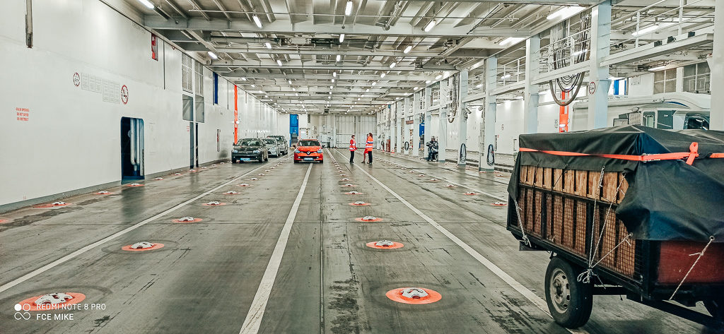 the parking garage on Brittany Ferries Post Lock Down