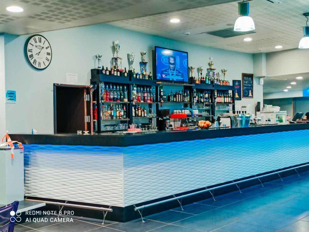 the inside bar area at Camping de l'ocean Brem Sur Mer