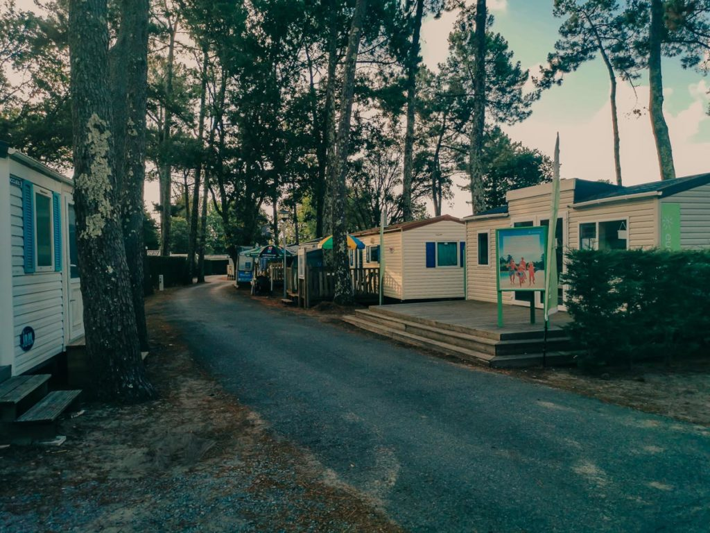 Eurocamp reception at camping le vieux port by Resasol in Messanges, Landes department, France