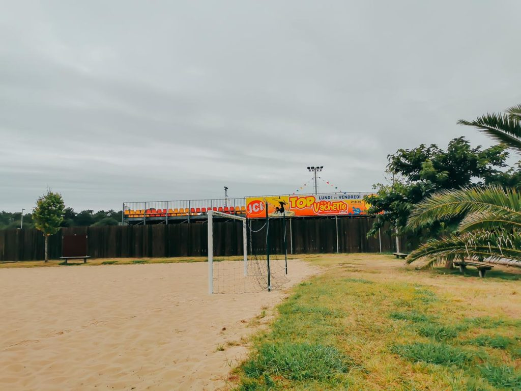 bull ring at camping le vieux port by Resasol in Messanges, Landes department, France