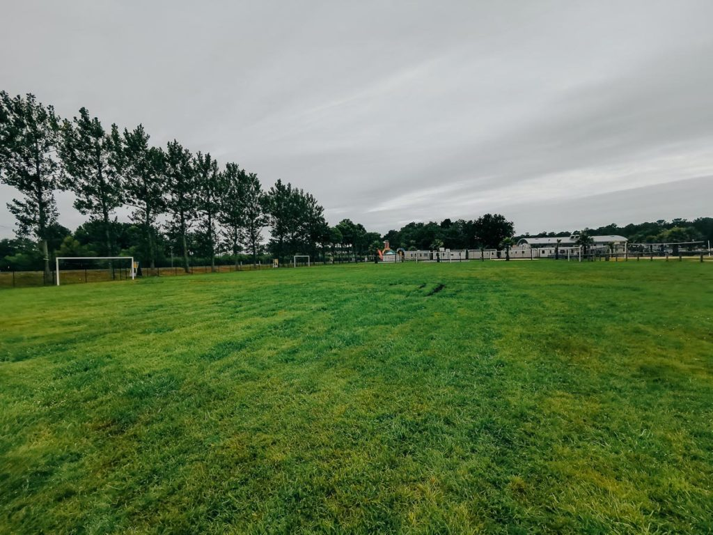 football pitchat camping le vieux port by Resasol in Messanges, Landes department, France