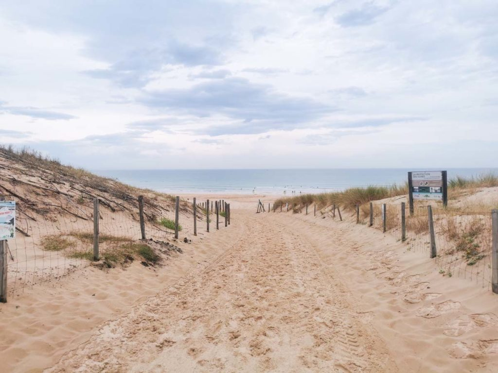Beach and dunes near Camping natureo in Hossegor-12