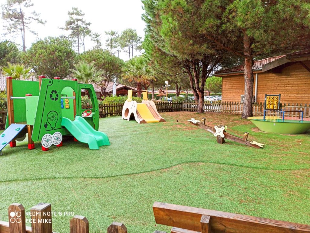 play park at camping natureo in Hossegor