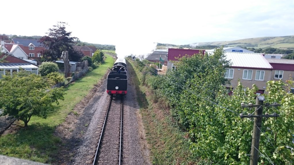 Swanage steam train for the camping in swanage post