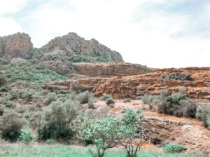 View from the ground of the rock of roquebrune sur argens