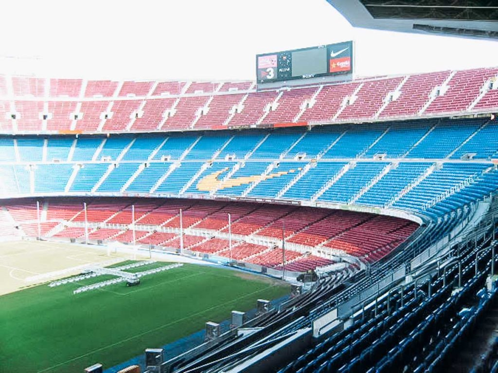 Camp Nou in Barcelona a photo of the stadium for things to do in Barcelona