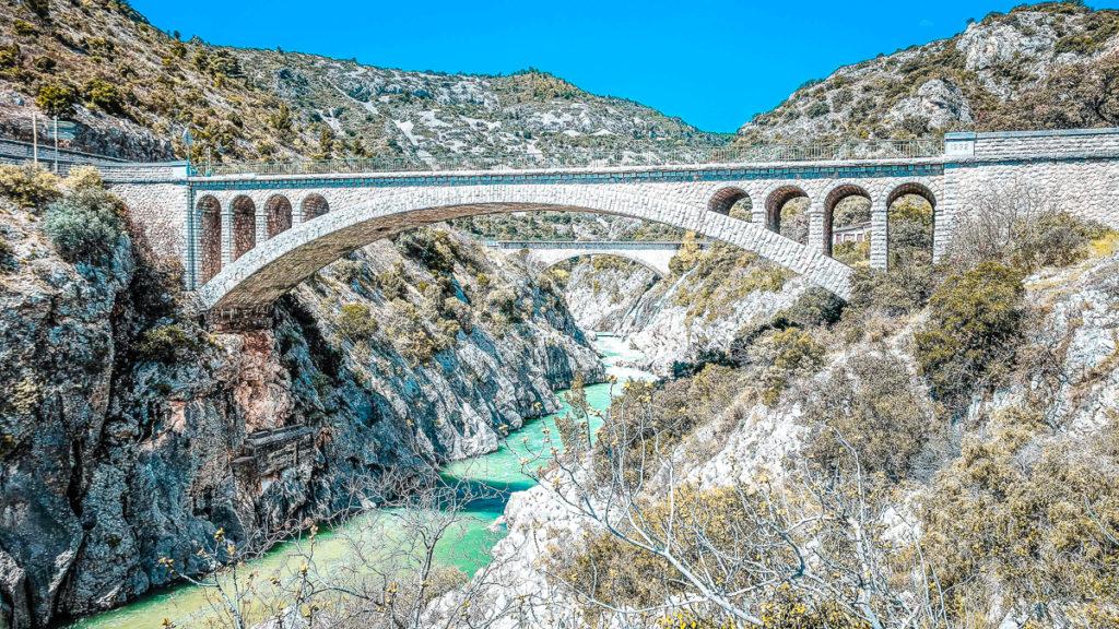 pont du diable bridge over the herault river