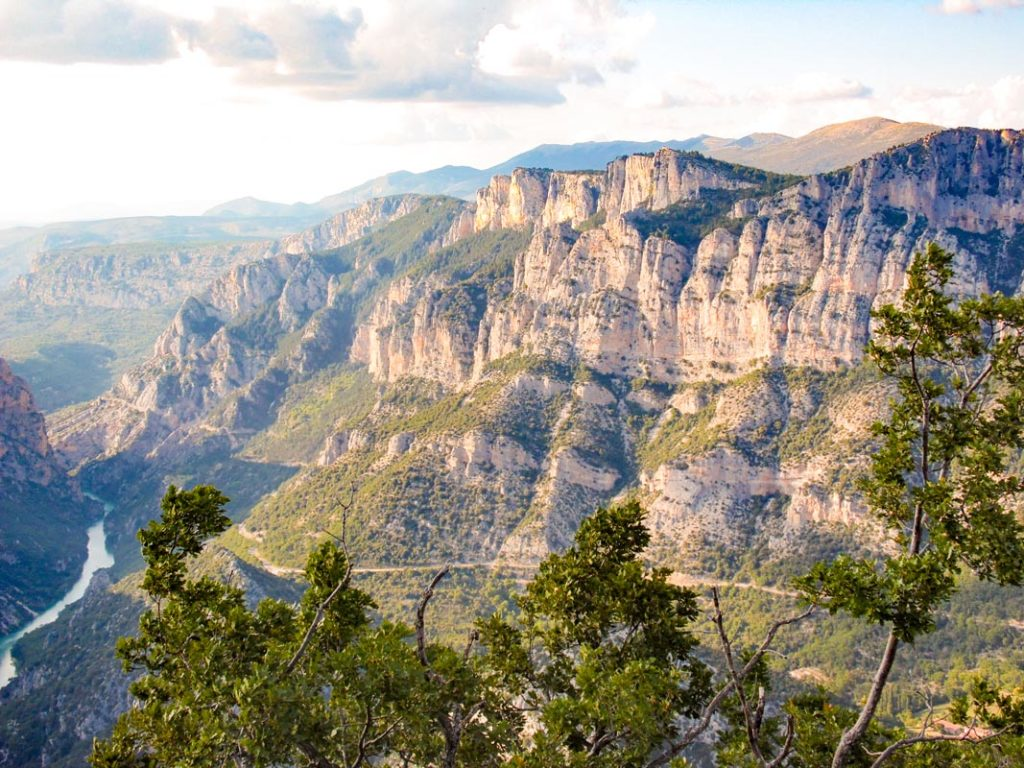 View of the gorge du verdon landscape in the var region of france