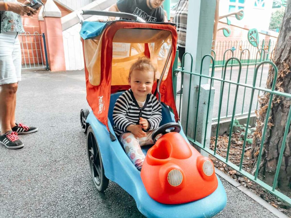 The stroller which we had hired at peppa pig world and paultons park