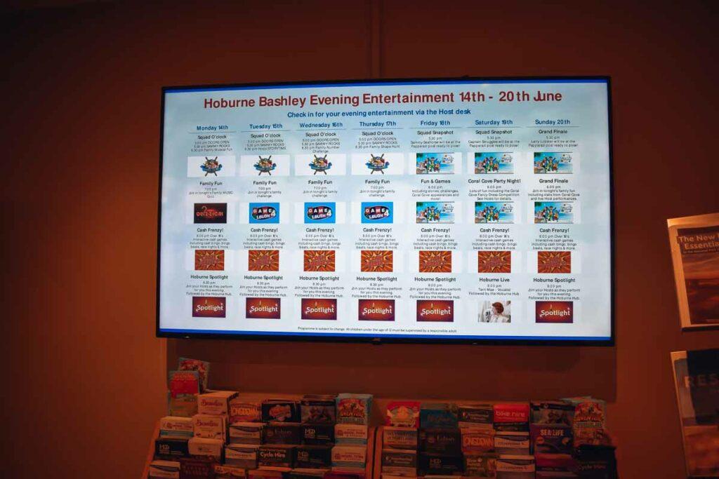 hoburne-bashley-entertainmnt-schedule
