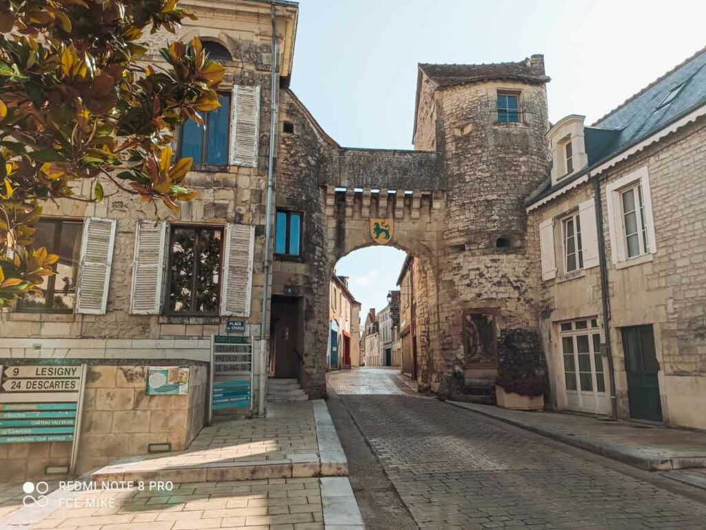 the town of la roche posay in the vienne