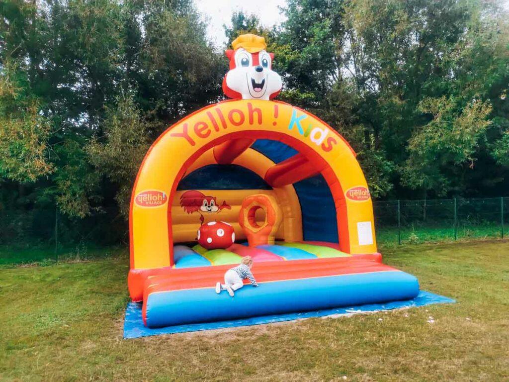 Kids bouncy castle at la roche posay campsite