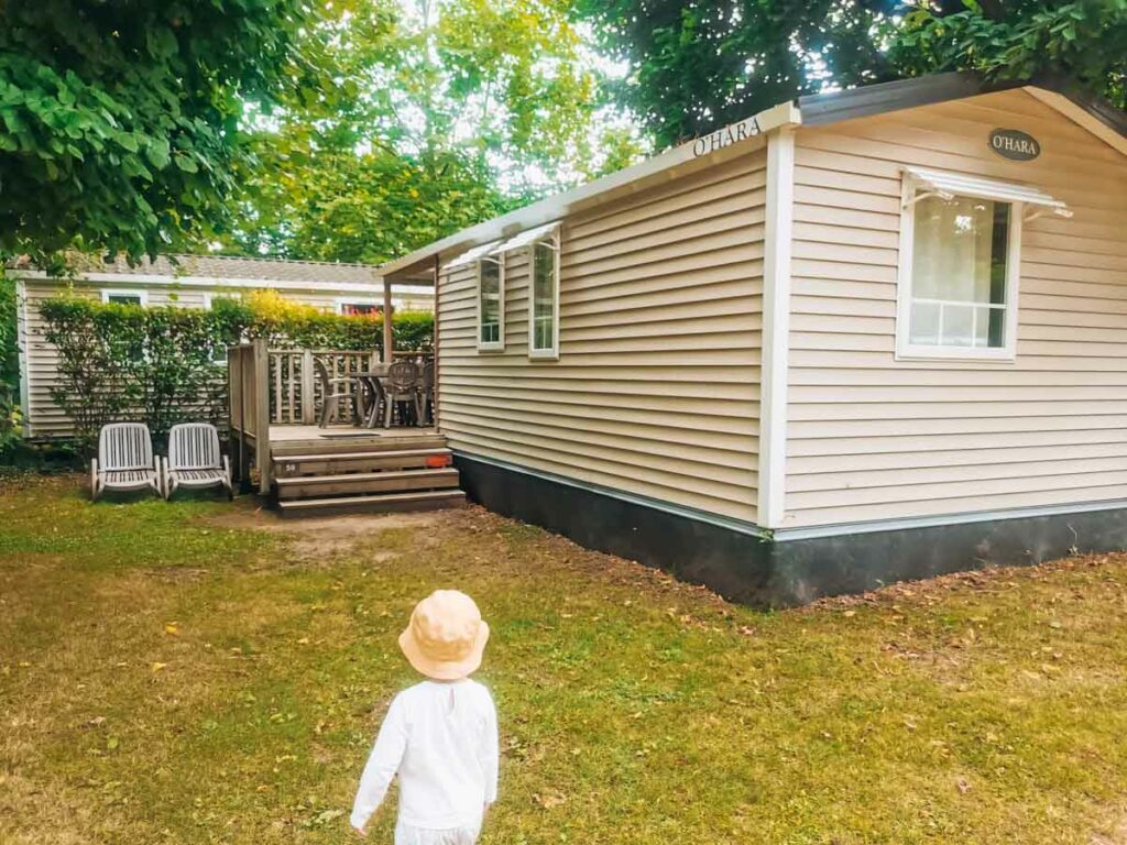 Mobile home accommodation at camping la roche posay