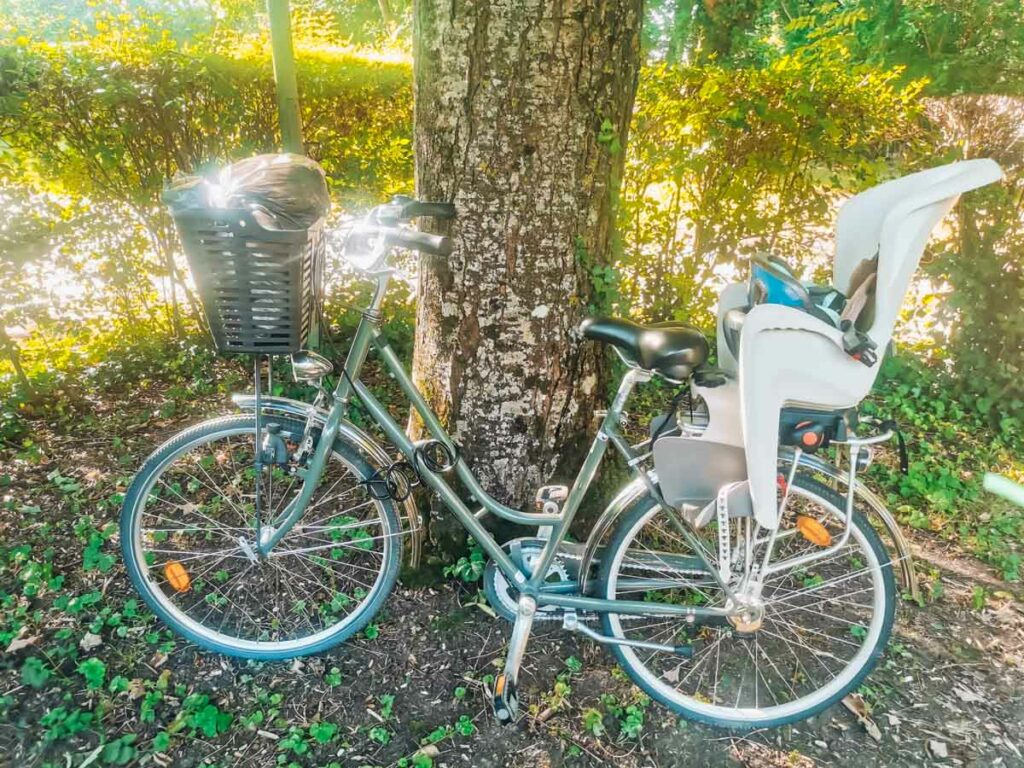 The bike we hired at camping la roche posay