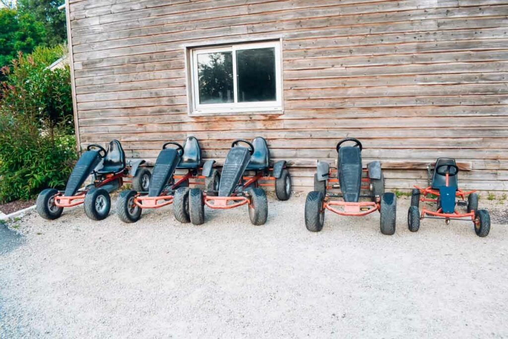 Go karts for hire at yelloh village camping la roche posay