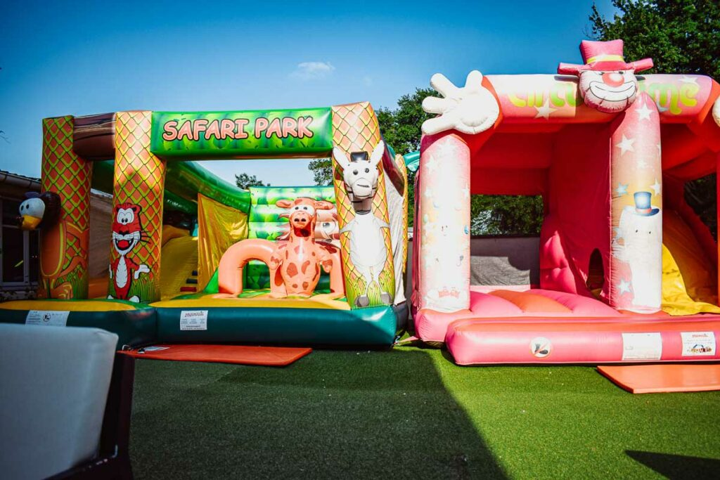 bouncy castles at domaine de la breche