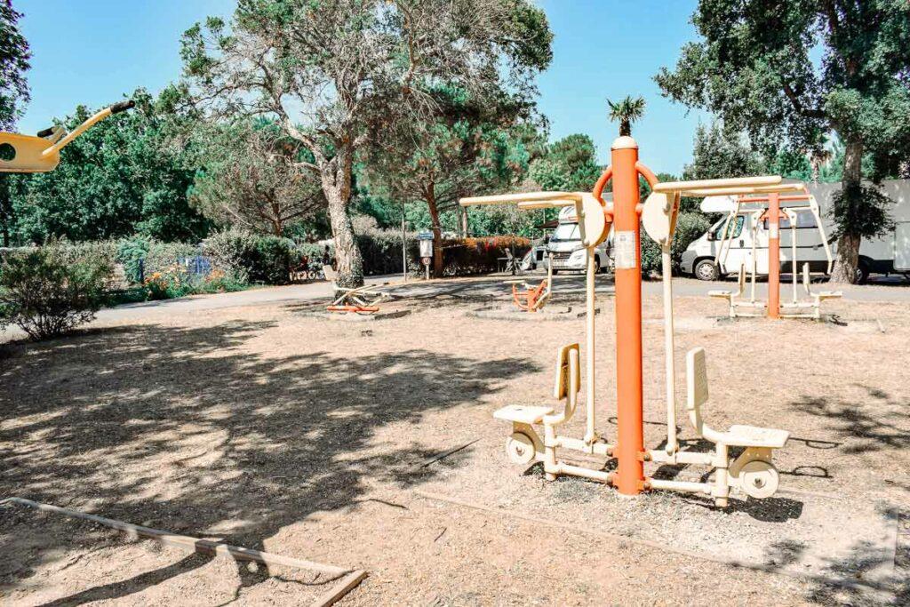 body-weight-gym-area-at-sylvamar-campsite